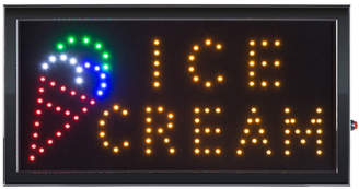 TRADEMARK FINE ART Lavish Home Neon LED Ice Cream Sign with Animation