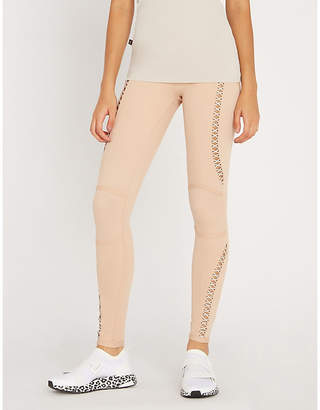 Lost Souls LURV Lace-up panel stretch-jersey leggings