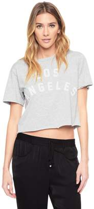 Juicy Couture Knit Distressed Los Angeles Graphic Tee