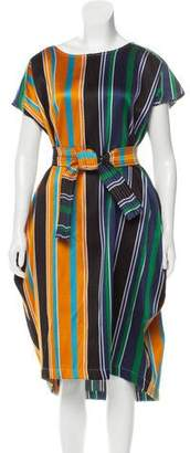 Collection Privée? Multi-Striped Midi Dress w/ Tags