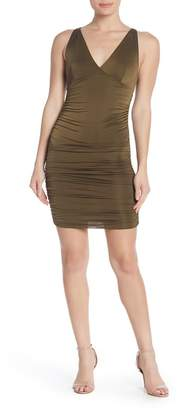 Love by Design V-Neck Ruched Bodycon Dress