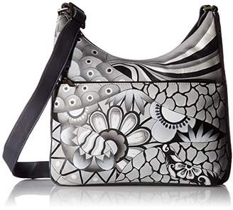 Anuschka Anna by Hand Painted Leather Women's Crossbody HOBO
