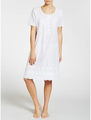 John Lewis   Partners Broderie Anglaise Short Sleeve Nightdress f792f4ee2