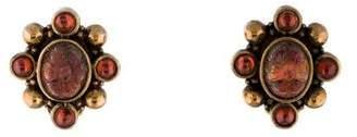 Stephen Dweck Carved Quartz Clip-On Earrings