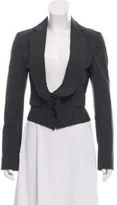 Dolce & Gabbana Pinstripe Long Sleeve Blazer