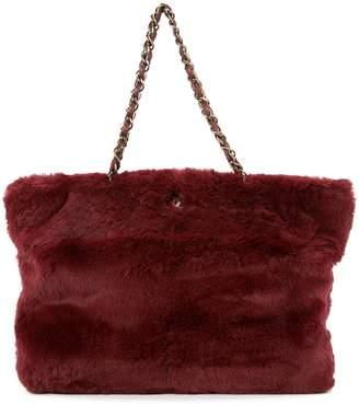 Chanel Pre-Owned 2000-2002 fur chain shoulder bag
