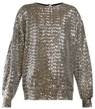 99dc46ead051 Isabel Marant Olivia Sequinned Top - Womens - Silver