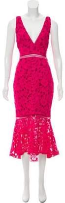 Nicholas Embroidered Cut-Out Dress Fuchsia Embroidered Cut-Out Dress