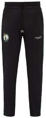 Marcelo Burlon County of Milan Boston Celtics Side Stripe Track Pants - Mens - Black Green