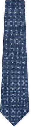 Eton Square print silk tie