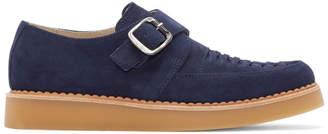 Diesel Navy Suede Khallat Monkstrap Loafers
