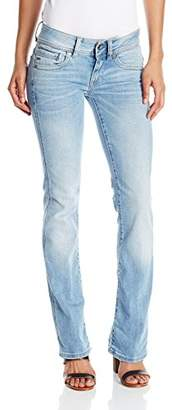 G-Star Raw Women's Midge Saddle Mid Rise Bootleg Fit Jean in Brantley Stretch $160 thestylecure.com