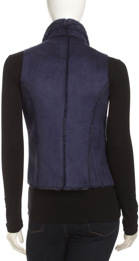 Neiman Marcus Cascading Faux Fur Vest
