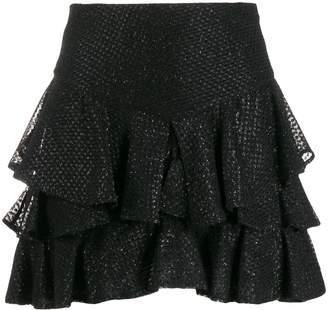 Wandering lace ruffle skirt