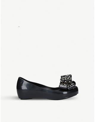 Mini Melissa Ultragirl luxe bow ballerina flat shoes 6-9 years