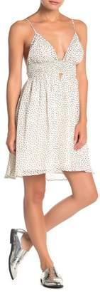 re:named apparel Irresistible V-neck Smocked Dress