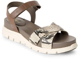 4d1c8d6b48c1 Cole Haan Roccia   Snake-Effect Zerogrand II Sandals