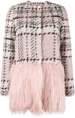 Blugirl contrast panel knit coat
