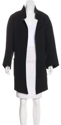 Theyskens' Theory Open Front Long Sleeve Coat