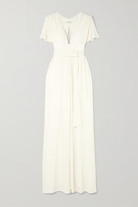 Halston Cutout Jersey Maxi Dress - Off-white