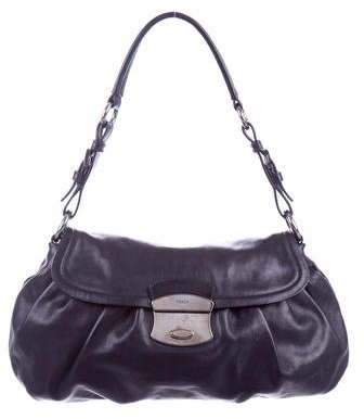 prada Prada Nappa Leather Shoulder Bag