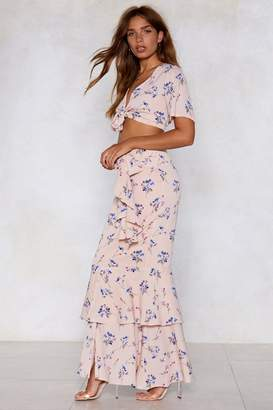 Nasty Gal When Two Become One Floral Skirt