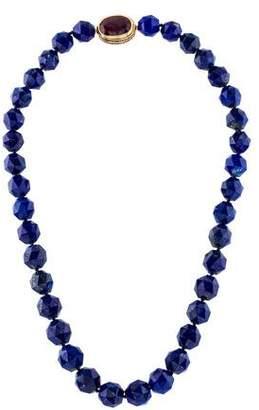 Lapis 18K Ruby & Lazuli Bead Necklace