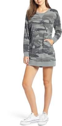 Splendid Active Camo Sweatshirt Dress