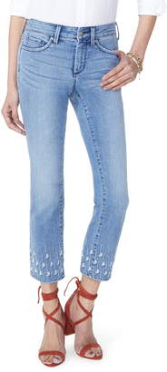 NYDJ Sheri Embroidered Stretch Slim Ankle Jeans