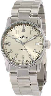Fortis Women's Flieger Automatic Date Stainless Steel Band Watch 621.10.12 M