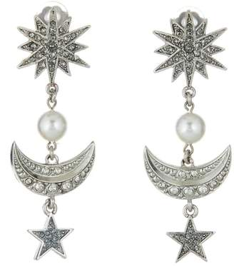 Oscar de la Renta Moon & Stars Earrings