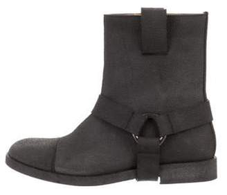 Maison Margiela Textured Leather Ankle Boots silver Textured Leather Ankle Boots