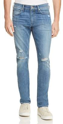 Paige Transcend Lennox Skinny Fit Jeans in Cartwright Destructed