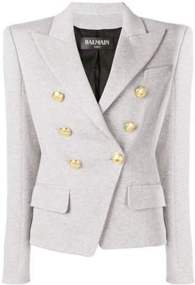 Balmain asymmetric blazer