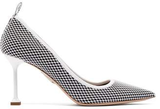 Miu Miu Mesh & Patent Leather Pumps - Womens - Black White