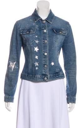 Blumarine Denim Button-Up Jacket