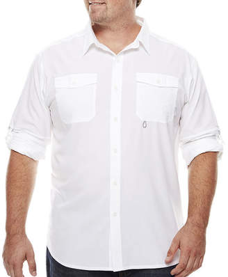 Columbia Mens Long Sleeve Button-Front Shirt-Big and Tall