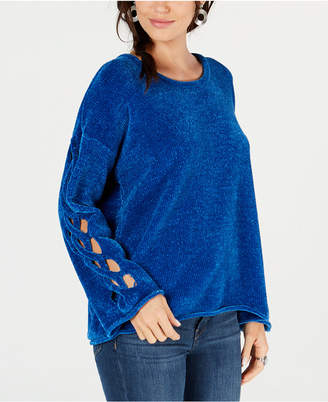 Style&Co. Style & Co Chenille Braided-Detail Sweater