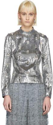 Erdem Silver Sequin Tonya Blouse