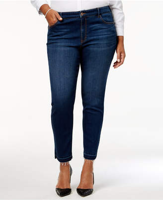 Style&Co. Style & Co Plus Size Split-Hem Ankle Jeans, Created for Macy's