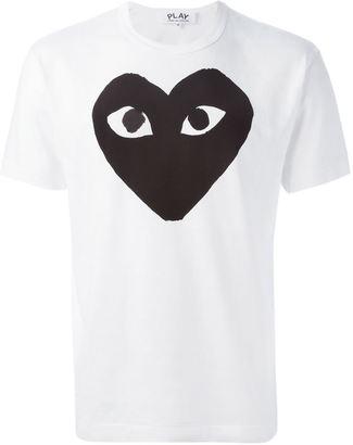 Comme Des Garçons Play heart print T-shirt $79.16 thestylecure.com