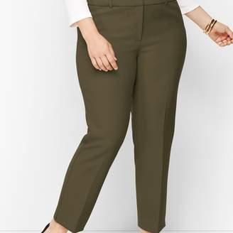 Talbots Plus Size Hampshire Ankle Pants - Solid
