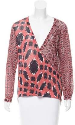 Sass & Bide Abstract Print Knit Top