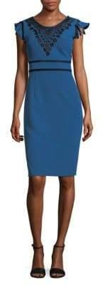Nanette Lepore Flutter Sleeve Sheath Dress