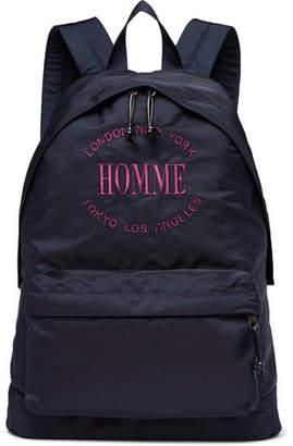 Balenciaga Explorer Embroidered Canvas Backpack - Men - Navy