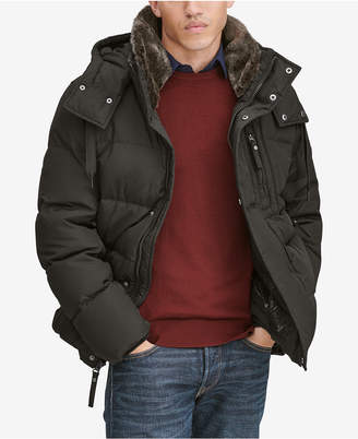Andrew Marc Men's Baltic Mid-Length Parka With Removable Faux-Fur Collar