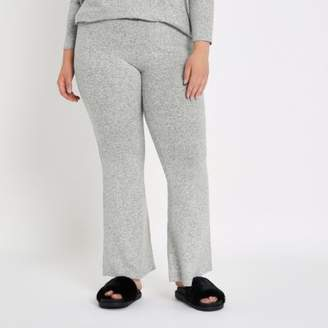 River Island Womens Plus grey flare joggers