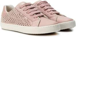 Geox low-top glittered sneakers