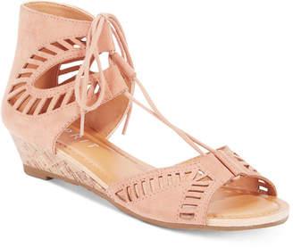 Esprit Carole Lace-Up Wedge Sandals $49 thestylecure.com
