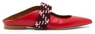 Malone Souliers By Roy Luwolt - Mara Backless Leather Flats - Womens - Red Multi